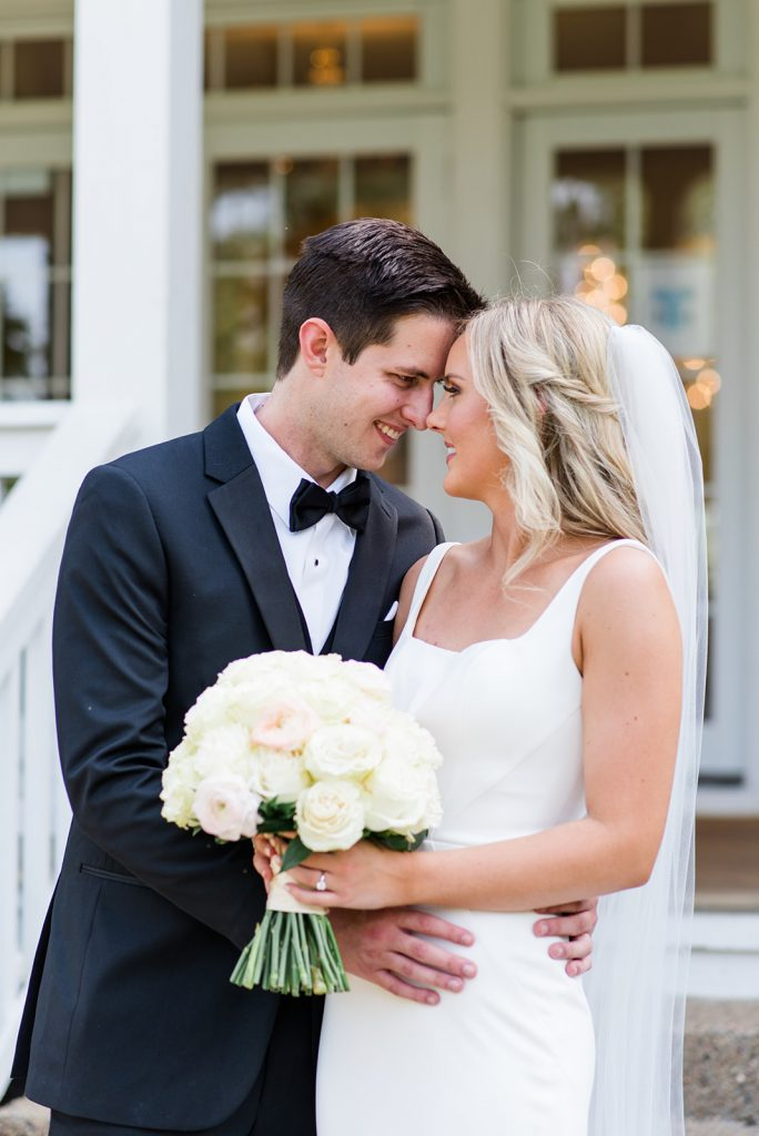 Real Martina Liana Bride and groom posing for photo