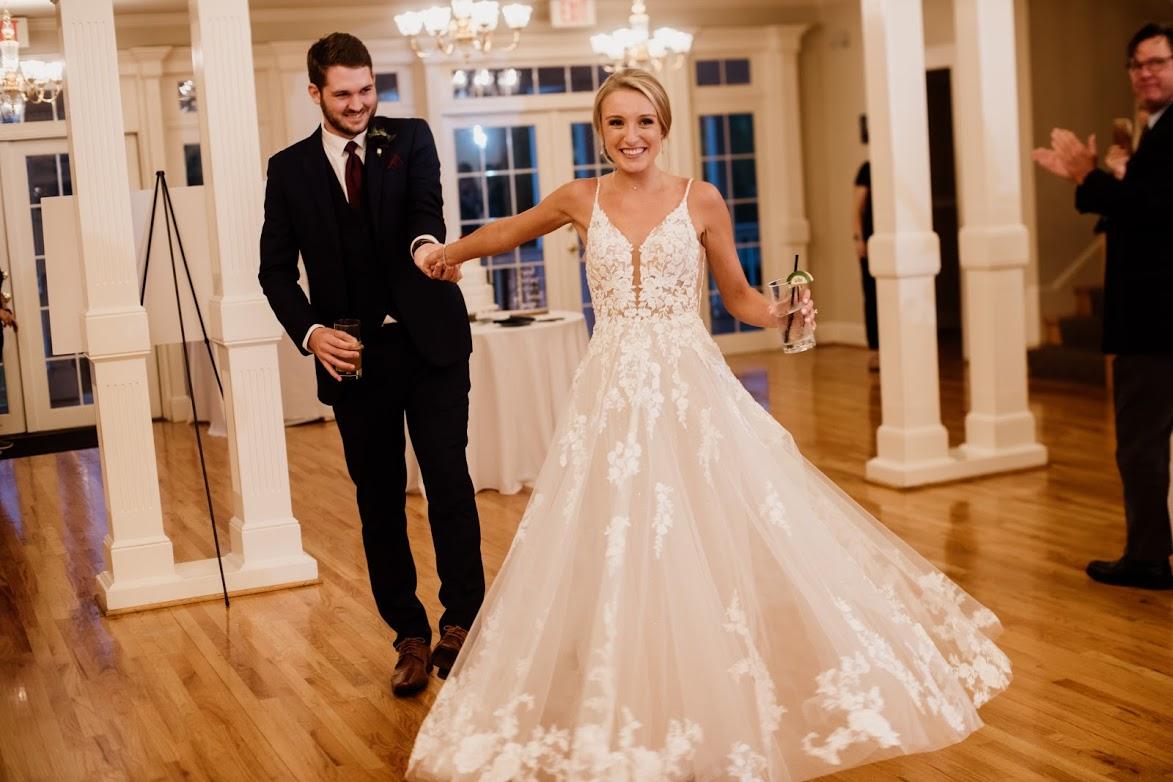 true bride dancing with groom on dance floor