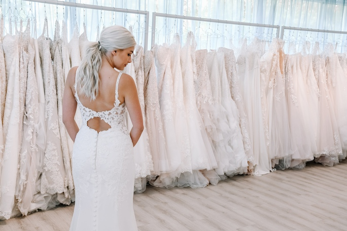 oxford street wedding dress back