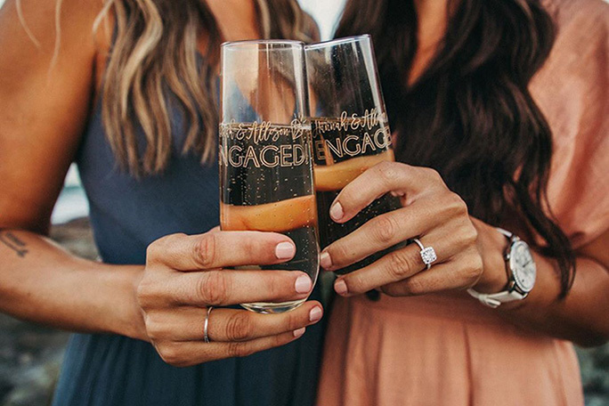 Recently Engaged Wine Clink