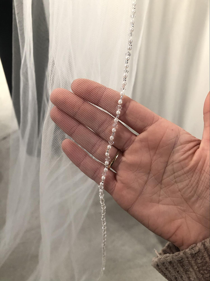 Pearl edged veil: 3651 by Marionat