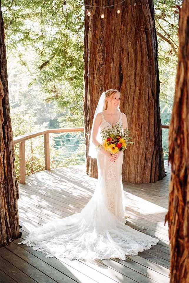 true bride harley at outdoor wedding venue - style 905 by martina liana