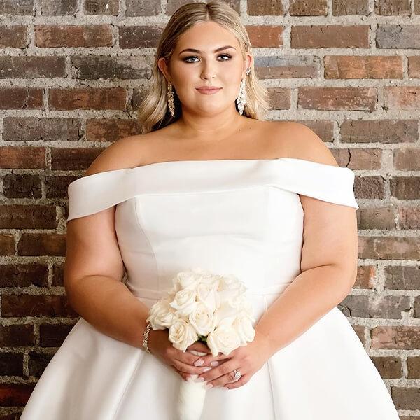 Plus Size Off-the-Shoulder Wedding Dress