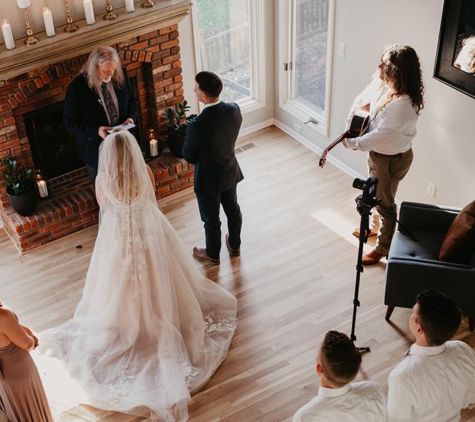 micro wedding - style D2748 by essense of australia