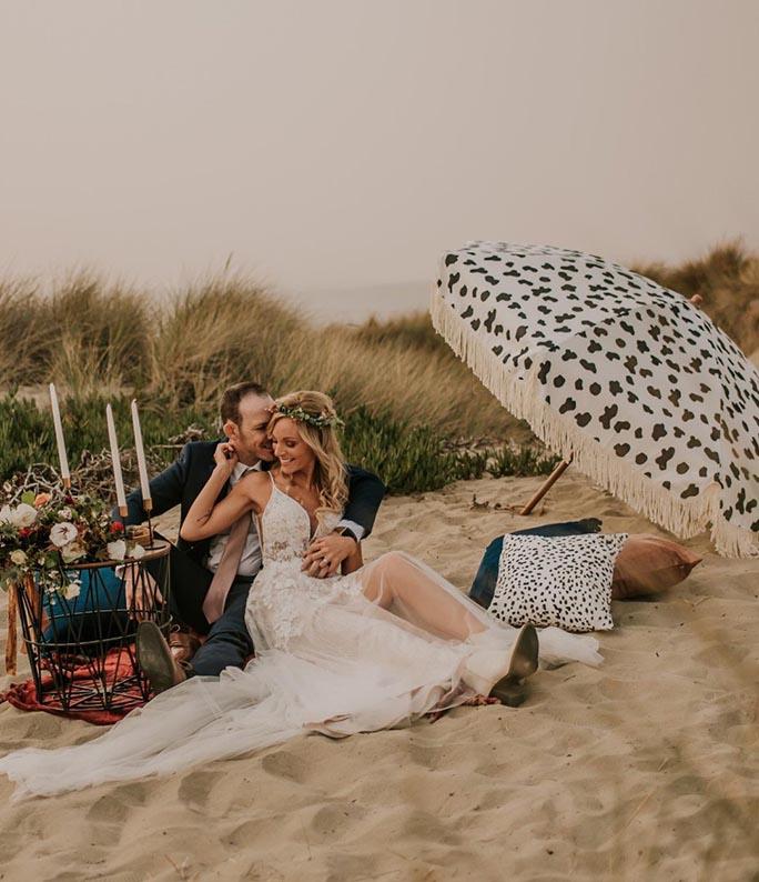beach wedding - style D2840 by essense of australia