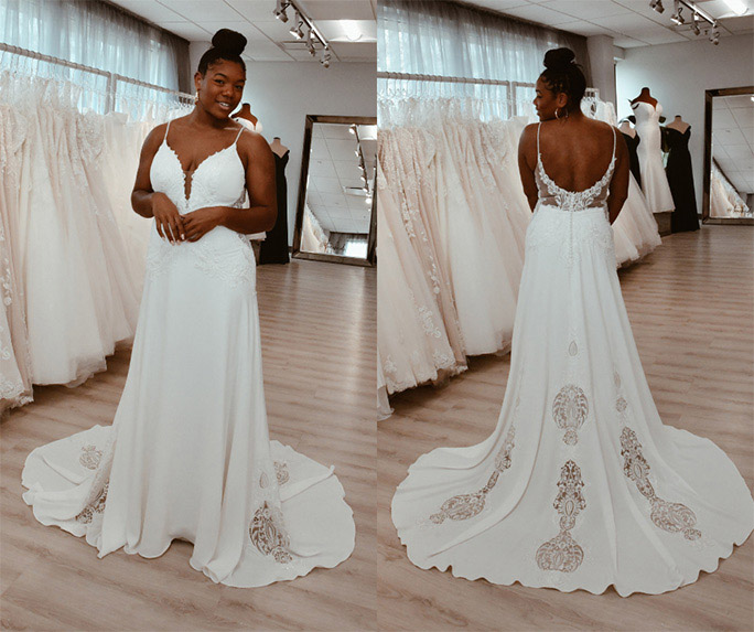 Minimal wedding gown - style delta by all who wander