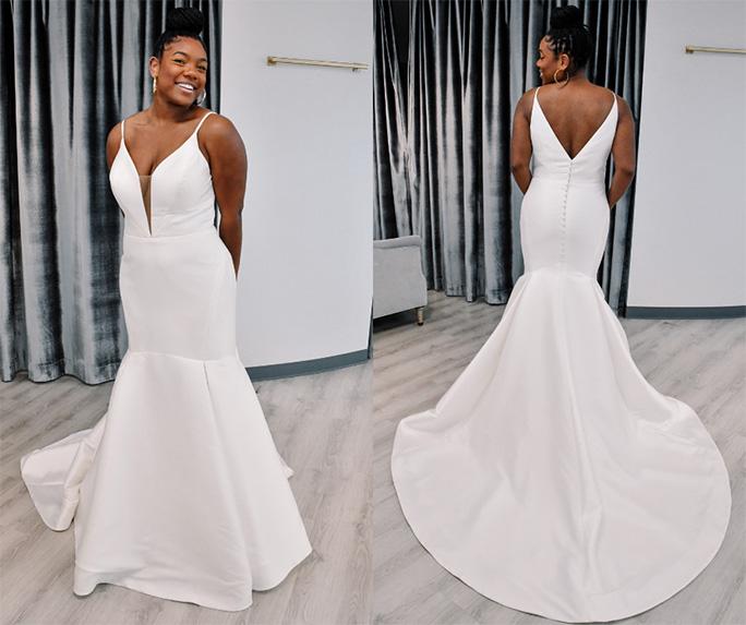 Clean look wedding dress - style d3223 by essense of australia