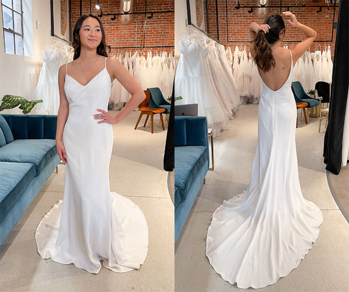 simple wedding gown - style 1319 by martina liana