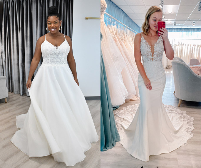 Minimal wedding dress - style by oxford street
