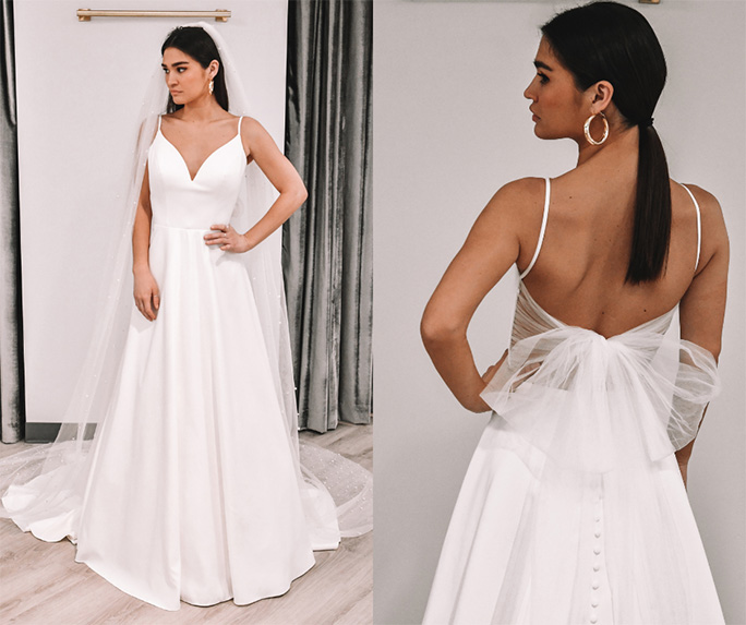 Clean wedding dress look - style 7211 by stella york