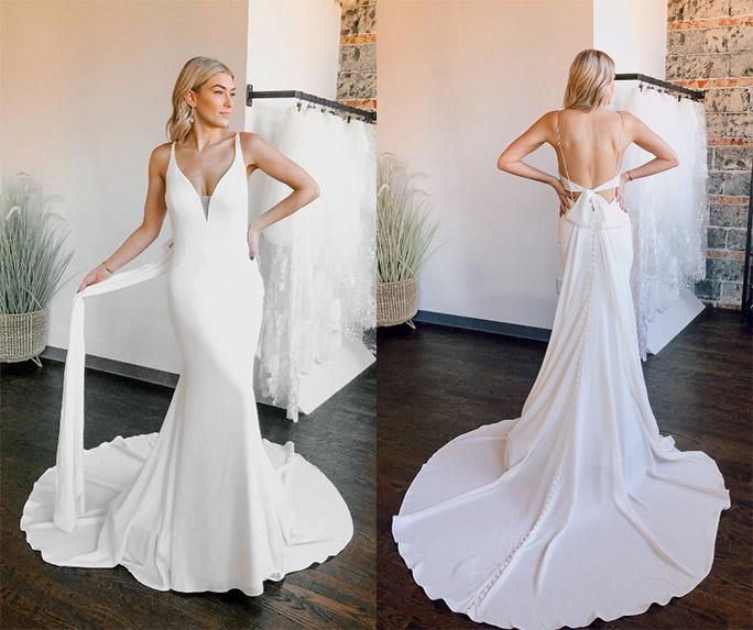 Clean look wedding dress - style 7290 by stella york