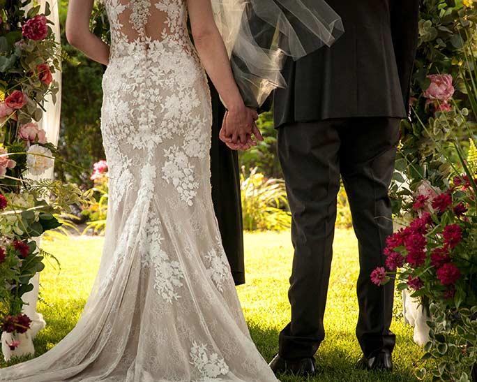 vintage backless wedding dress stella york style 6933